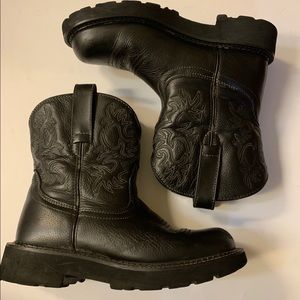 Ariat black leather boots